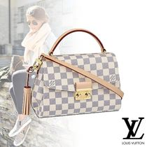 Louis Vuitton Other Check Patterns Canvas Blended Fabrics Tassel 2WAY