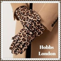 Hobbs London Leopard Patterns Leather Leather & Faux Leather Gloves