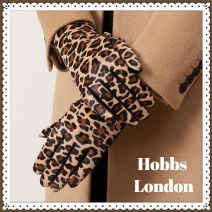 Leopard Patterns Leather Leather & Faux Leather Gloves