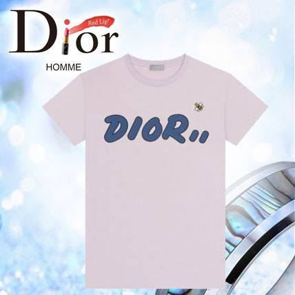 a4404db26ea0 ... Christian Dior Crew Neck Crew Neck Pullovers Unisex Cotton Short  Sleeves ...