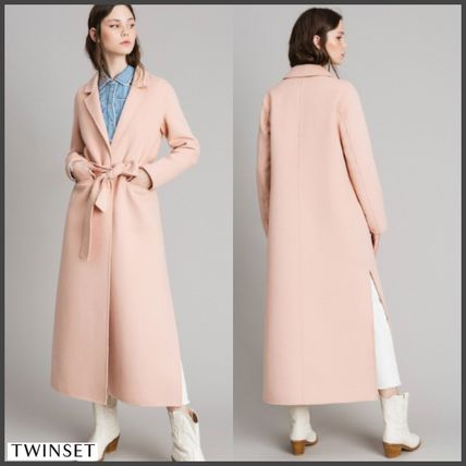 Wool Long Elegant Style Chester Coats