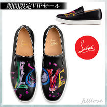 Christian Louboutin Heart Loafers Street Style Plain Leather Loafers & Slip-ons