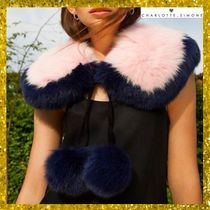 CHARLOTTE SIMONE Bi-color Plain Elegant Style Detachable Collars