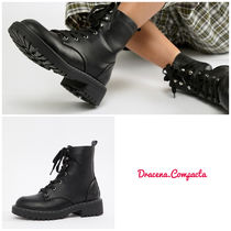 ASOS Round Toe Casual Style Faux Fur Plain Ankle & Booties Boots