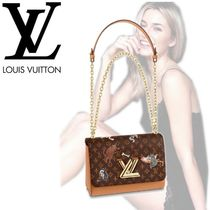 Louis Vuitton TWIST Casual Style Blended Fabrics Bi-color Other Animal Patterns