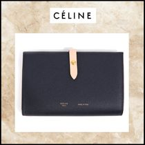 CELINE Calfskin Bi-color Long Wallets