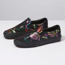 VANS SLIP ON Flower Patterns Street Style Low-Top Sneakers