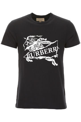 Burberry Crew Neck Crew Neck Plain Cotton Short Sleeves Crew Neck T-Shirts 2