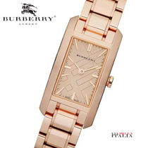 Burberry Square Quartz Watches Stainless Elegant Style Analog Watches