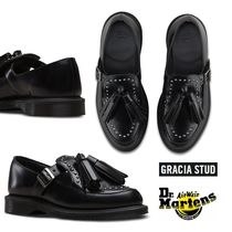 Dr Martens Plain Toe Rubber Sole Casual Style Tassel Studded Leather