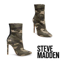 Steve Madden Camouflage Casual Style Pin Heels Ankle & Booties Boots