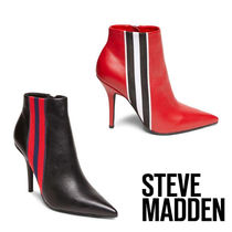 Steve Madden Stripes Plain Leather Pin Heels Party Style