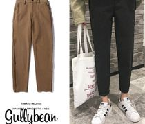 Tapered Pants Plain Tapered Pants