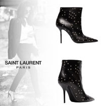 Saint Laurent Star Leather Pin Heels Ankle & Booties Boots