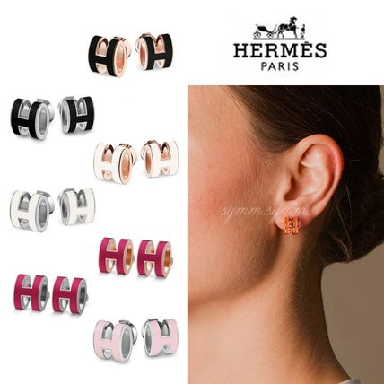 HERMES Earrings & Piercings Casual Style Initial Earrings & Piercings