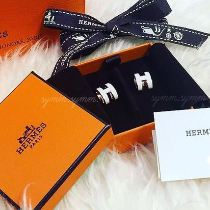 HERMES Earrings & Piercings Casual Style Initial Earrings & Piercings 15
