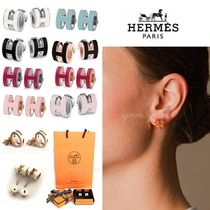 HERMES Casual Style Initial Earrings