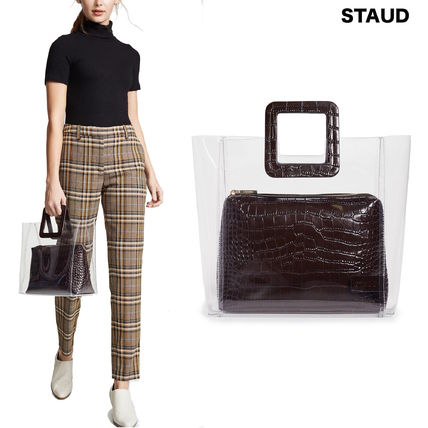 Other Animal Patterns Leather Crystal Clear Bags Handbags