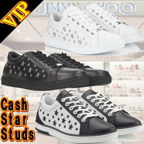 Jimmy Choo Star Studded Leather Sneakers