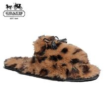 Coach Leopard Patterns Casual Style Faux Fur Other Animal Patterns