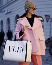 VALENTINO Street Style A4 Totes