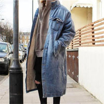 Insurgence Wear Denim Street Style Plain Long Parkas