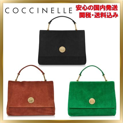 Suede 2WAY Plain Elegant Style Shoulder Bags