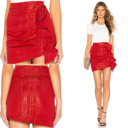 Pencil Skirts Short Plain Cotton Skirts