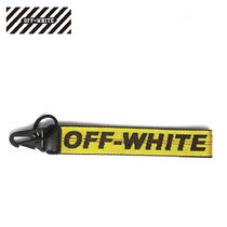 Off-White Leather Keychains & Bag Charms