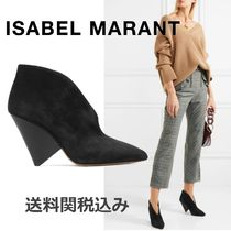Isabel Marant Suede Plain Elegant Style Ankle & Booties Boots