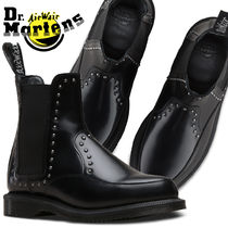 Dr Martens Lace-up Casual Style Unisex Street Style Plain Lace-up Boots