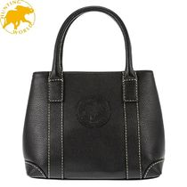 HUNTING WORLD Plain Leather Totes