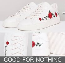 GOOD FOR NOTHING Flower Patterns Street Style Sneakers