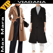 MaxMara Plain Medium Elegant Style Coats