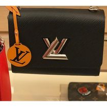 Louis Vuitton TWIST Blended Fabrics 2WAY Bi-color Chain Plain Leather
