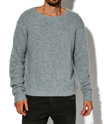 Crew Neck Cashmere Street Style Long Sleeves