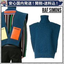 RAF SIMONS Unisex Wool Sleeveless Vests & Gillets