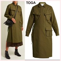 TOGA Casual Style Wool Long Wrap Coats