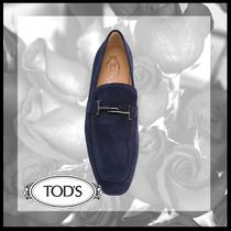 TOD'S Driving Shoes Suede Plain Loafers & Slip-ons