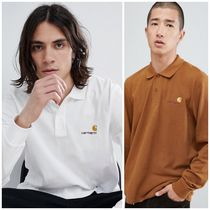 Carhartt Street Style Long Sleeves Plain Polos