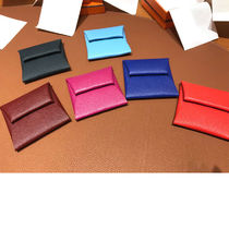 HERMES Bastia Leather Coin Cases
