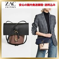ZAC ZAC POSEN Plain Leather Elegant Style Shoulder Bags