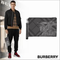 Burberry Other Check Patterns Clutches