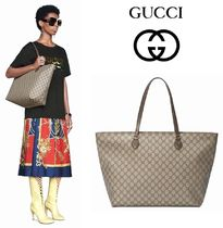 GUCCI Ophidia Casual Style Unisex Canvas A4 Totes
