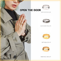 OPEN THE DOOR Unisex Street Style Metal Rings