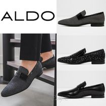 ALDO Loafers Blended Fabrics Studded Plain Leather