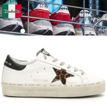 Golden Goose Leopard Patterns Plain Leather Low-Top Sneakers