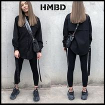HMBD Casual Style Unisex Street Style Long Sleeves Plain Cotton