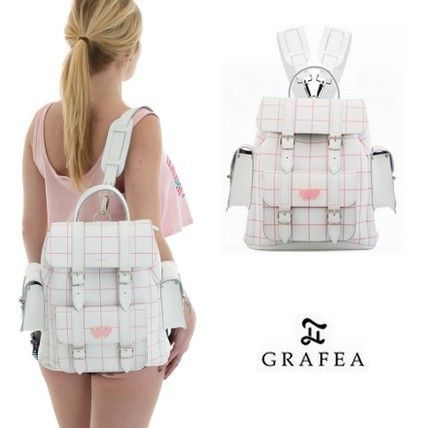 Other Check Patterns Casual Style 2WAY Leather Backpacks
