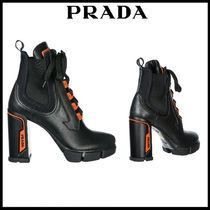 PRADA Casual Style Street Style Leather Ankle & Booties Boots